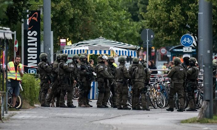 Elite police launched a massive operation in Munich late Friday to track down what had initially been thought to be up to three assailants (AFP Photo/)