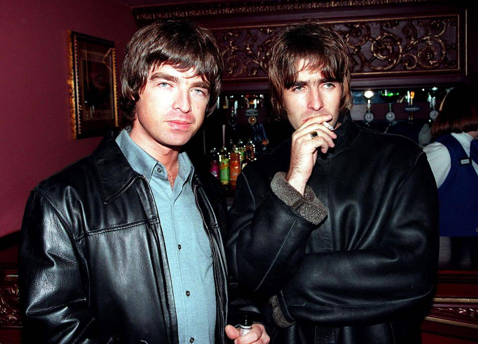 <p>There are two kinds of people in this world: those who love Oasis and those who don't know great Britpop. The band, which was founded in 1991 and whose core members were the constantly feuding brothers Liam and Noel Gallagher, are among the best-selling bands in the history of music. Their first record, 1994's Definitely Maybe, is a work of art. Their second, 1995's (What's the Story) Morning Glory?, is one of rock music's greatest sophomore albums. Their third album, 1997's Be Here Now, is an example of cocaine-fuelled excess. (Why are there so many helicopter noises on the record?) After years of very public debauchery and fighting, the band broke up in 2009. Both brothers have gone on to solo acts, and Liam has become something of a fashion icon, mostly for his '90s looks. As these pictures of the brothers Gallagher demonstrate, they were most certainly modern rock gods. </p>