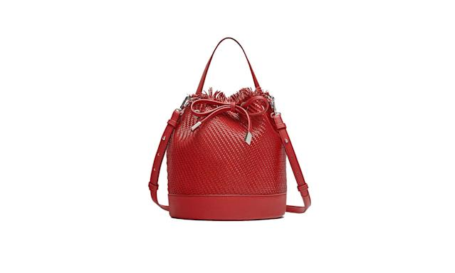 Red raffia bucket bag (Photo: Zara)