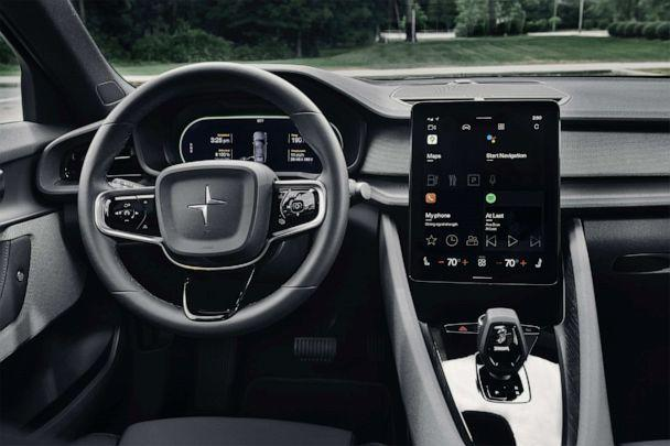 PHOTO: The Polestar 2 comes with a large, center touch screen that controls temperature and heated seats, among other functions. (Polestar)