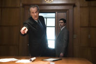 """<p><b>The one-sentence pitch: </b>""""The show demonstrates the miscommunication between the FBI and the CIA in the lead-up to 9/11,"""" explains executive producer Dan Futterman.<br><br><b>What to expect: </b>Adapted from <em>New Yorker</em> staff writer Lawrence Wright's 2006 Pulitzer Prize-winning bestseller, the 10-episode series begins in the late '90s with the bombings of two United States embassies in East Africa, among the first in a series of """"signal events"""" — including the USS Cole bombing in 2000 and the arrival of the 9/11 hijackers in the U.S. — that culminated in the Twin Towers falling. """"We have a lot of characters to follow, but there's a real spine to the story,"""" Futterman says of how the series depicts the recent past. """"It's also exciting, particularly in this cultural moment, to show [former FBI agent] Ali Soufan, who to my mind is a Muslim-American hero.""""<br><br><b>Keeping it real: </b>Futterman says that the writing staff had a full-time researcher, as well as an outside legal counsel, to make sure they didn't take too many liberties in the name of dramatic storytelling. """"It was like writing a rigorous term paper,"""" he says. """"The production also incorporated new research from Wright, who served as an executive producer on the series and published a follow-up book, <i>The Terror Years</i>, in 2016. """"Larry was our 'in' with everyone,"""" says Futterman. """"Former members of the CIA talked to him on short notice and then sat down with all of us."""" <i>— EA</i><br><br>(Photo: JoJo Whilden/Hulu) </p>"""