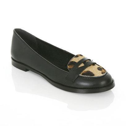 Black Leather Loafer by Miss Selfridge: Flat Shoes for the Weekend