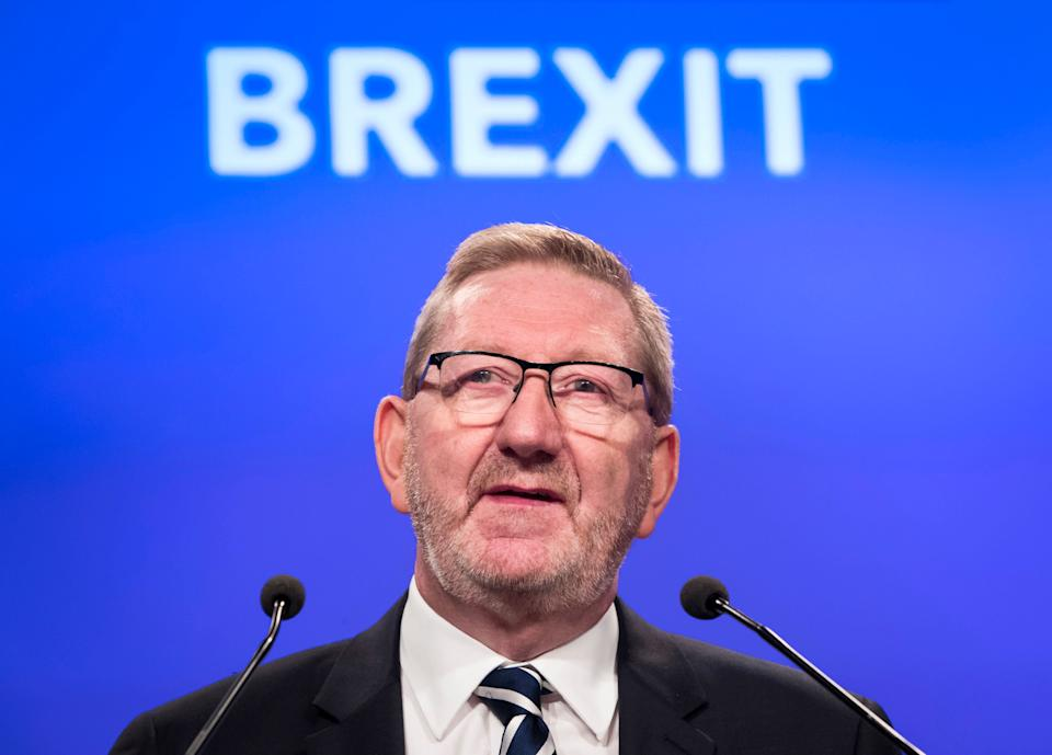 Unite General Secretary Len McCluskey gives a speech on Brexit during the TUC Congress in Manchester. (Photo: PA Archive/PA Images)