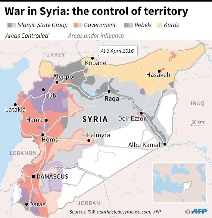 War in Syria: the control of territory (AFP Photo/)