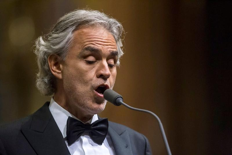 Royal Singer: Italian tenor Andrea Bocelli will be performing at the wedding of Princess Eugenie and Jack Brooksbank: EPA
