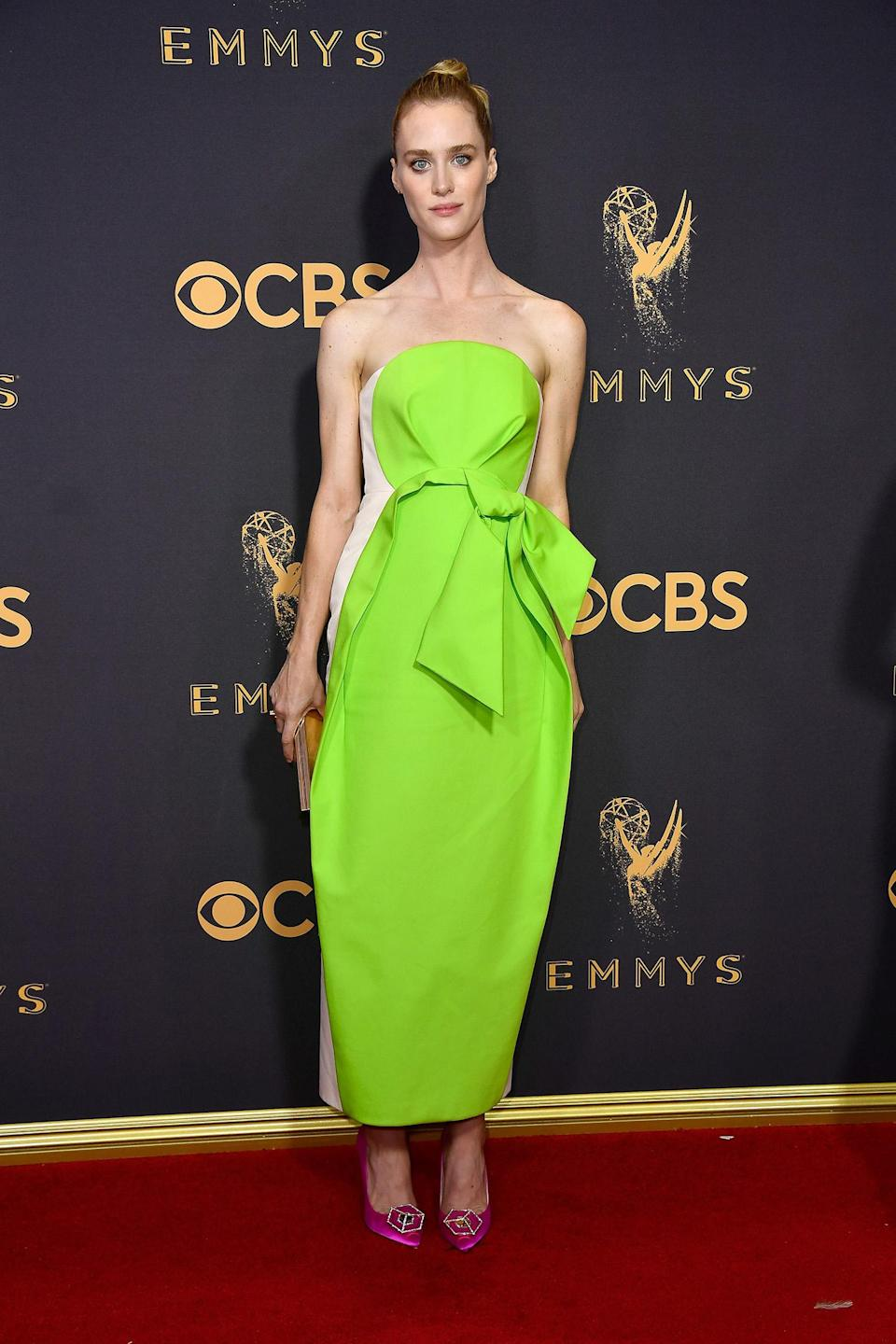 <p>Mackenzie Davis attends the 69th Annual Primetime Emmy Awards on September 17, 2017.<br> (Photo: Getty Images) </p>