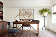 <p>Mark J. Williams filled the office of a client's Craftsman house in Los Angeles with period-style furnishings, like a Paul McCobb chair and rustic Alton House desk, for a look that's vintage without being theme-y.</p>