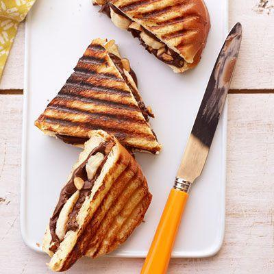 """<p>Chocolate and banana is a classic combination. This sandwich is made even better with the addition of roasted almonds and is sandwiched between thick slices of challah bread.</p><p><em><a href=""""https://www.goodhousekeeping.com/food-recipes/a14229/nutella-banana-challah-recipe-ghk0812/"""" rel=""""nofollow noopener"""" target=""""_blank"""" data-ylk=""""slk:Get the Nutella and Banana on Challah recipe »"""" class=""""link rapid-noclick-resp"""">Get the Nutella and Banana on Challah recipe »</a></em></p>"""
