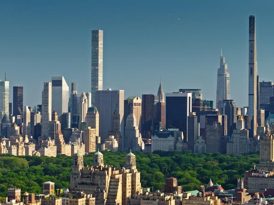 Midtown Manhattan and Central Park as seen from the Upper West Side. New York has overtake San Francisco as the US's most expensive rental market (Getty Images/iStockphoto)