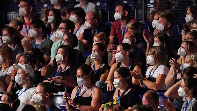 Concert-goers wore protective face masks for the study, in Leipzig, on 22 August 2020