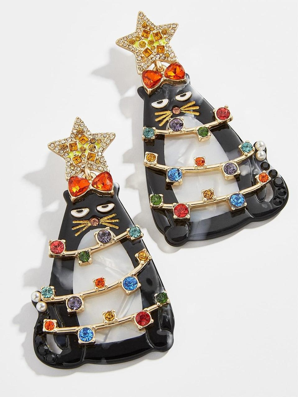 <p><span>Merry Meow Earrings</span> ($54)</p>