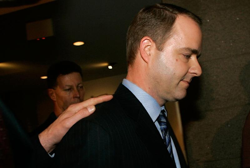 Kirk Fordham, former chief of staff to former Rep. Mark Foley, R-FL, leaves after testifying before at a House committee at the US Capitol 12 October 2006 in Washington DC (AFP Photo/Mark Wilson)