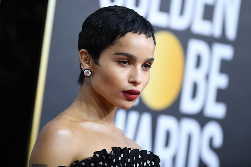 US actress Zoe Kravitz arrives for the 77th annual Golden Globe Awards on January 5, 2020, at The Beverly Hilton hotel in Beverly Hills, California. (Photo by VALERIE MACON / AFP) (Photo by VALERIE MACON/AFP via Getty Images)