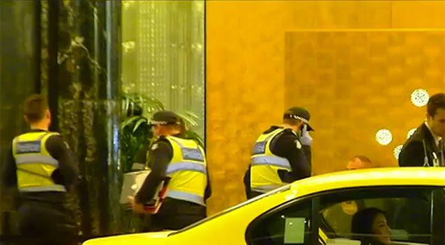 Three people were stabbed in a mass brawl outside Melbourne's Crown Casino. Source: Sunrise