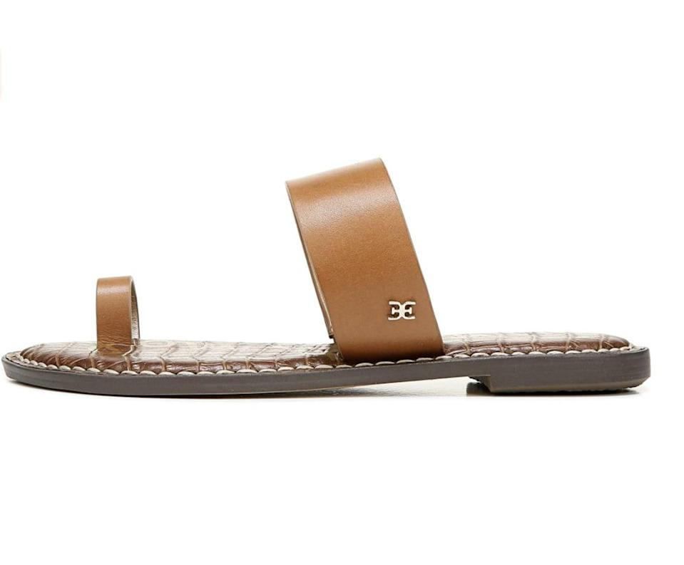 <p>You can't go wrong with these polished <span>Sam Edelman Gorgene Slide Sandals</span> ($39 - $126).</p>
