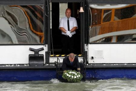 FILE PHOTO: Hungarian crew of Mermaid tourist boat that sank on Danube is buried in the river