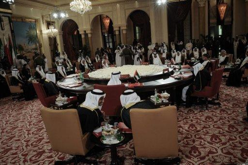 Gulf Cooperation Council (GCC) leaders on the eve of the annual GCC summit in Manama on December 24, 2012