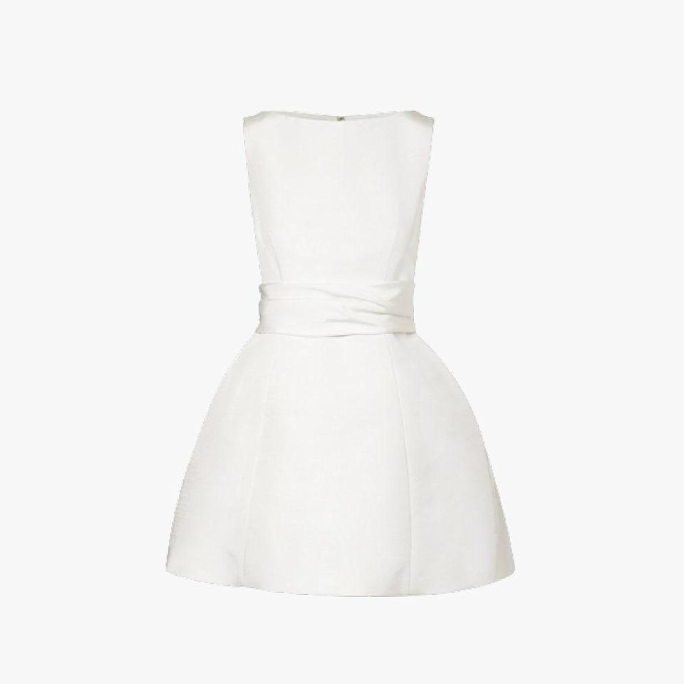 "$2495, NET-A-PORTER. <a href=""https://www.net-a-porter.com/en-us/shop/product/brandon-maxwell/silk-faille-mini-dress/1101262"" rel=""nofollow noopener"" target=""_blank"" data-ylk=""slk:Get it now!"" class=""link rapid-noclick-resp"">Get it now!</a>"