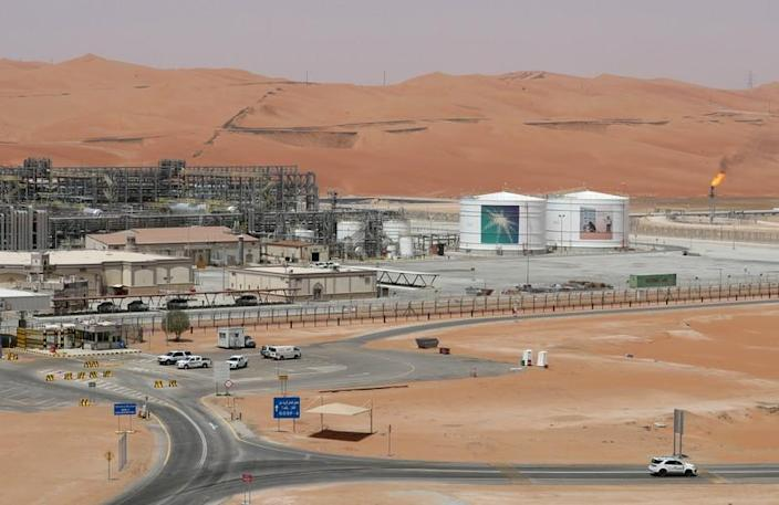FILE PHOTO: View of the production facility at Saudi Aramco's Shaybah oilfield in the Empty Quarter