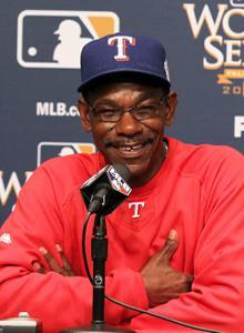 Manager Ron Washington has been pleased with Moreland's progress with the Rangers