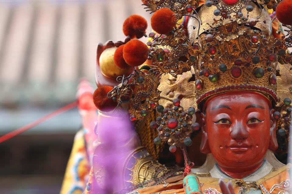 Taipei, Taiwan - April 19, 2008 : Mazu is a Chinese sea goddess also known by several other names and titles. her worship spread throughout China's coastal regions and overseas Chinese communities throughout Southeast Asia.