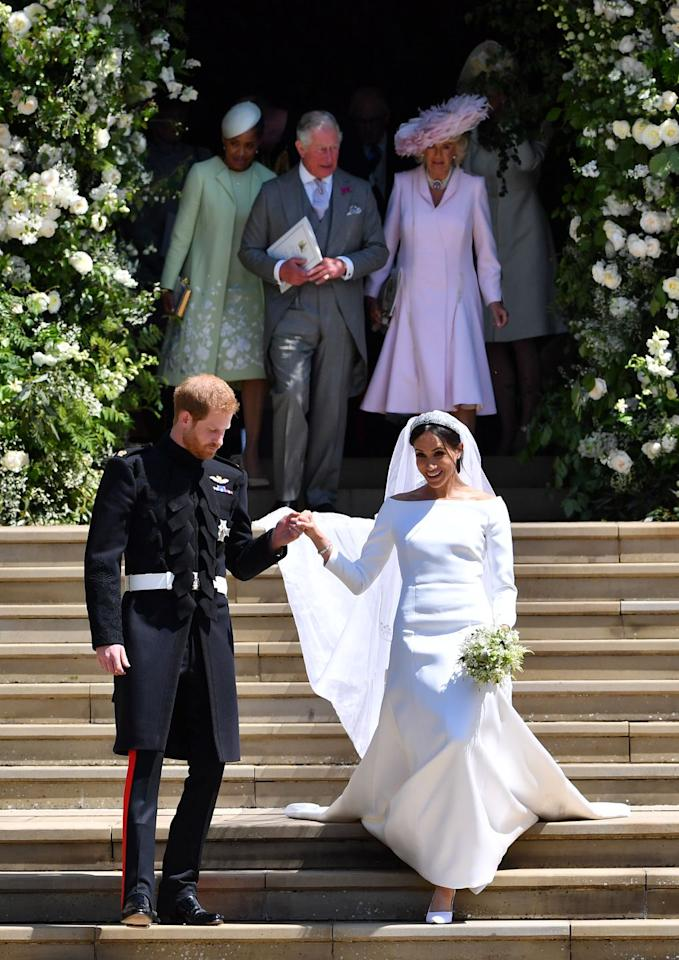 <p>Of course the Duchess of Sussex is on this list. The off-the-shoulder Givenchy gown she wore to wed Prince Harry in 2018 is the very definition of iconic. </p>