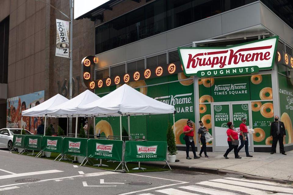 <p>Though a good chunk of Krispy Kreme locations are independently operated, many will be open on January 1. Call ahead to be sure!</p>