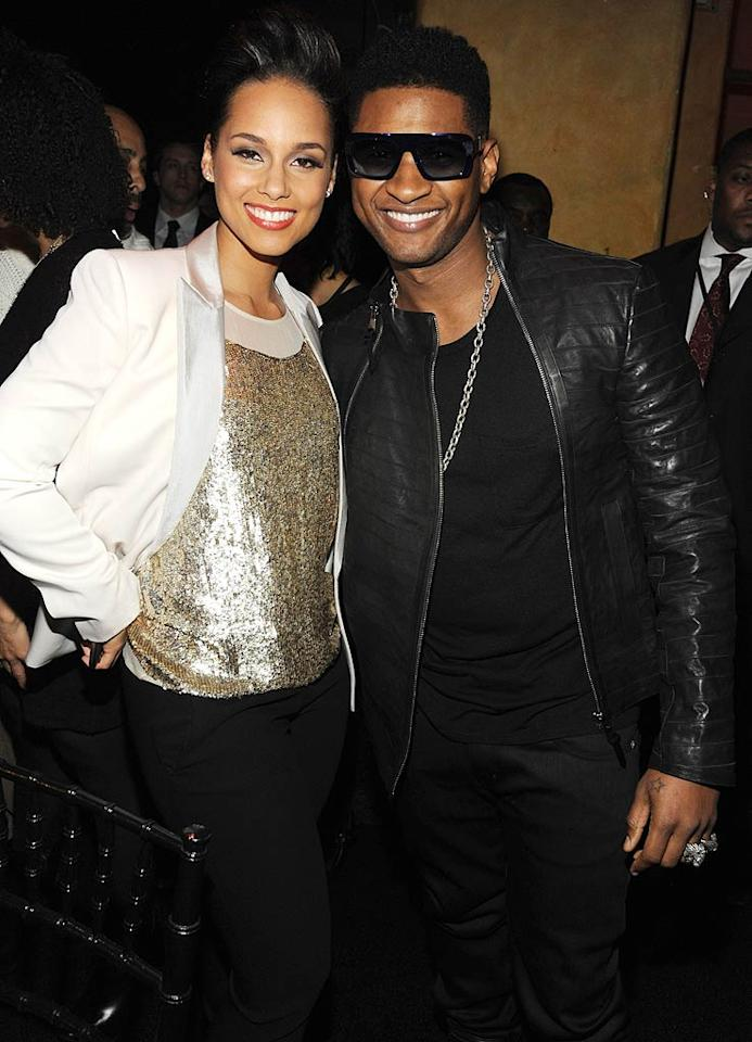 """Alicia Keys raised $3 million for AIDS treatment in Africa and India at the 8th annual Black Ball for her charity Keep a Child Alive at the Hammerstein Ballroom in NYC Thursday night. The """"Superwoman"""" singer had support from famous friends like Usher, who performed at the fete. (11/3/2011)"""