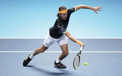 Stefanos Tsitsipas is dangerous at the net - Credit: getty images