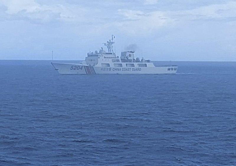 A photo of the Chinese ship released by Indonesian Maritime Security Agency. Source: Indonesian Maritime Security Agency via AP