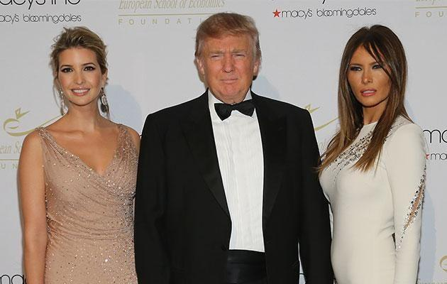 Trump used to pose with the women as his