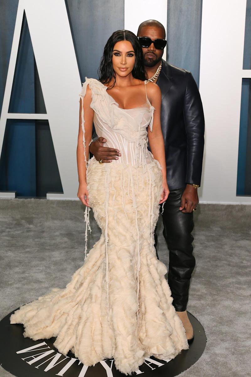 Kim Kardashian and Kanye West in 2020 (Getty Images)