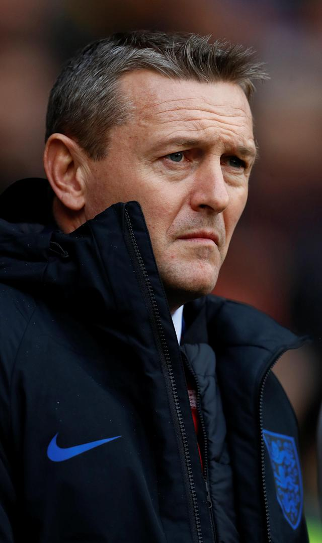 Soccer Football - European Under 21 Championship Qualifier - England vs Ukraine - Bramall Lane, Sheffield, Britain - March 27, 2018 England manager Aidy Boothroyd Action Images via Reuters/Jason Cairnduff