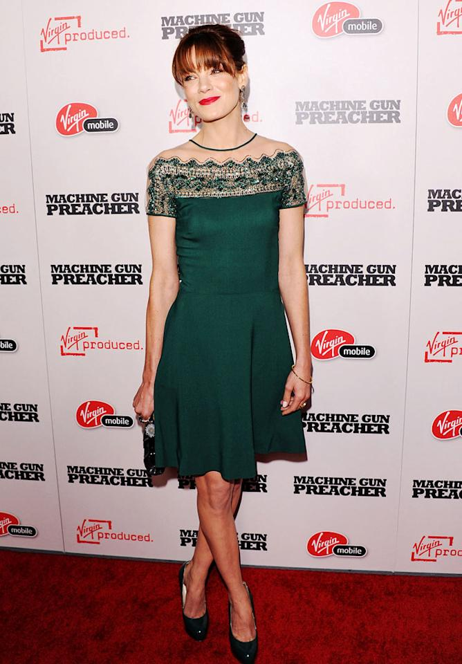 """Not even Johnny Weir would be caught dead in the ice skater-esque Valentino dress Michelle Monaghan wore to the Los Angeles premiere of """"Machine Gun Preacher."""" JB Lacroix/<a href=""""http://www.wireimage.com"""" target=""""new"""">WireImage.com</a> - September 21, 2011"""