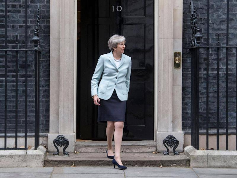 The plot is said to have been targeted at the prime minister while she was inside 10 Downing Street (PA)