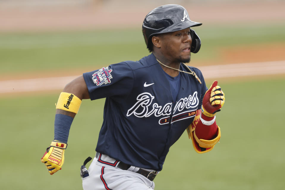Ronald Acuna Jr. #13 of the Atlanta Braves