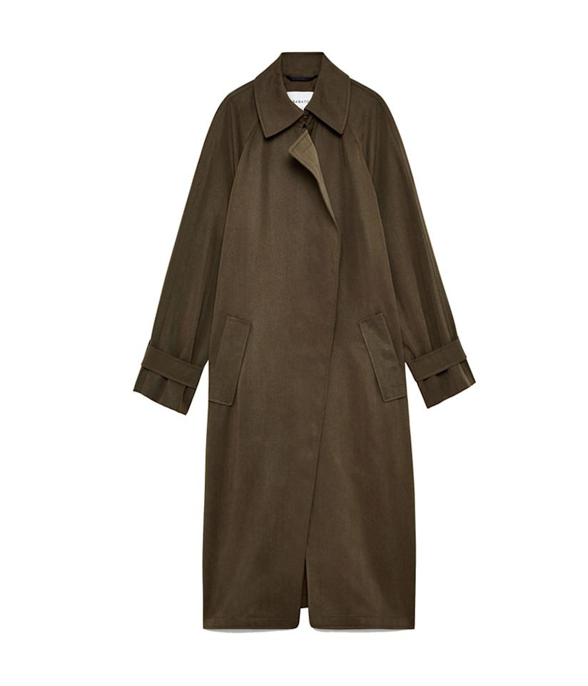 "<p>Lawson Trench Coat, $225, <a rel=""nofollow"" href=""https://www.aritzia.com/us/en/product/lawson-trench-coat/50438.html"">aritzia.com</a> </p>"