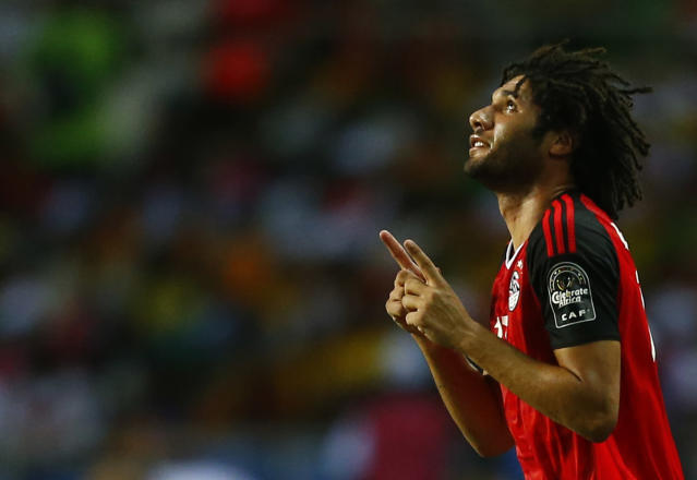 Football Soccer - African Cup of Nations - Final - Egypt v Cameroon - Stade d'Angondjé - Libreville, Gabon - 5/2/17 Egypt's Mohamed Elneny celebrates scoring their first goal Reuters / Amr Abdallah Dalsh Livepic