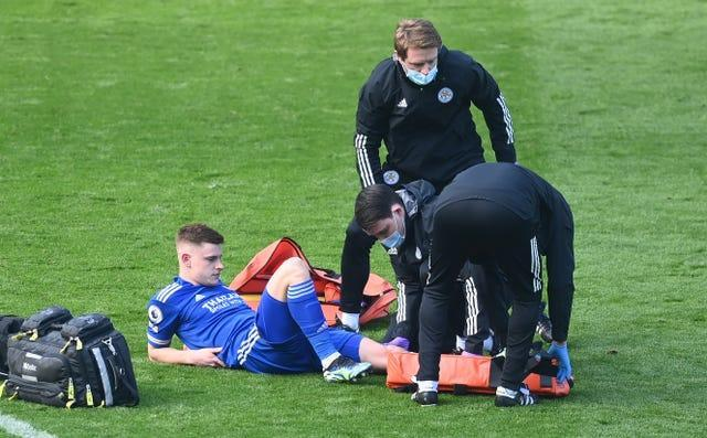 Leicester lost Harvey Barnes to a knee injury during a difficult few days