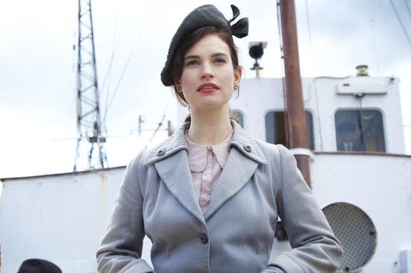Lily James stars as Juliet Ashton in The Guernsey Literary and Potato Peel Pie Scoeity