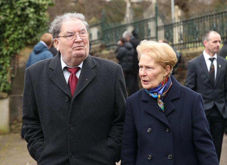 John Hume and wife Pat, who has died in Londonderry (Niall Carson/PA) (PA Archive)