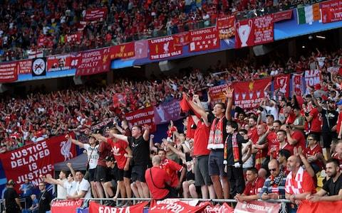 Liverpool's banners - Credit: Laurence Griffiths/Getty Images