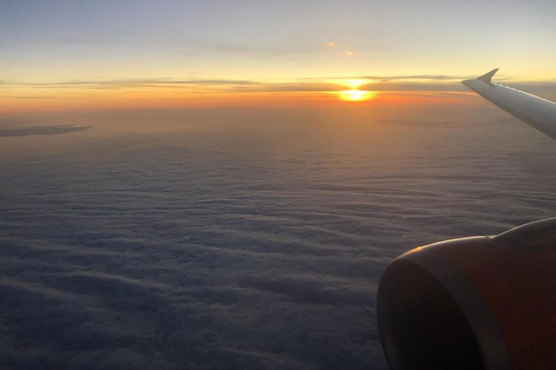 EasyJet sunset: set the controls for the heart of Essex, or Stansted airport at least: Simon Calder
