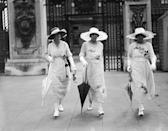 <p>Nobody would be spotted at high tea without an umbrella, a wide-brimmed hat, or white gloves. Preferably, all three.</p>