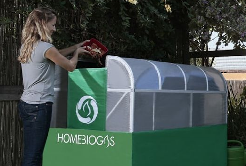 This home-friendly biodigester lets you turn food scraps into usable cooking gas