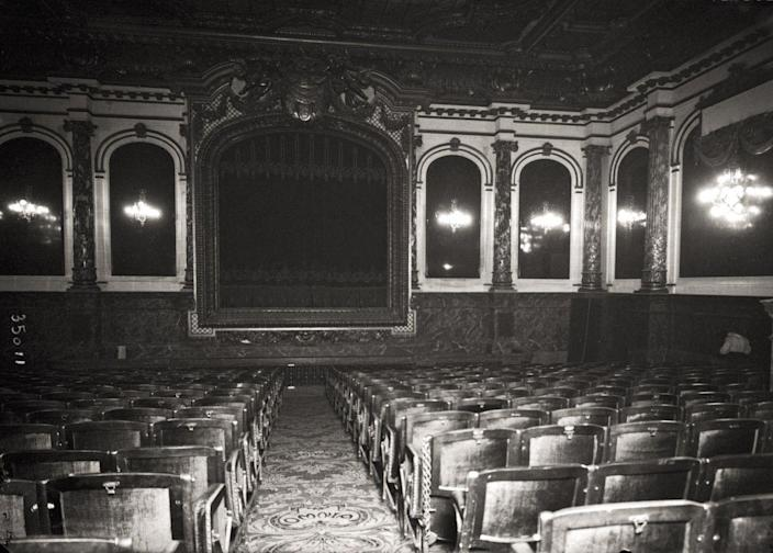 <p>The Omnia Pathe cinema, one of the oldest theaters in Paris. It opened with 250 seats in 1906.</p>