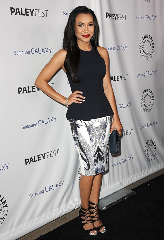 "A day earlier, omg!'s Gleek userbase voted via <a href=""http://twitter.com/yahooomg"" target=""_blank"">Twitter</a> on which ""Glee"" star they wanted to see included in Thursday's Top Shots update and the winner is ... Naya Rivera. The 26-year-old actress looked lovely on the red carpet of media event PaleyFest on Wednesday night in Beverly Hills. (2/27/2013)"