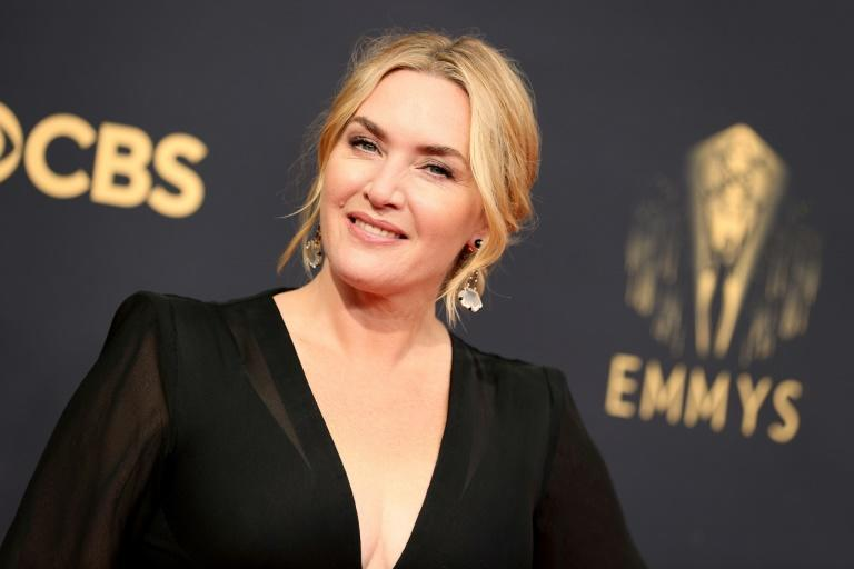 """Kate Winslet won the Emmy for best actress in a limited series for """"Mare of Easttown"""" (AFP/Rich Fury)"""