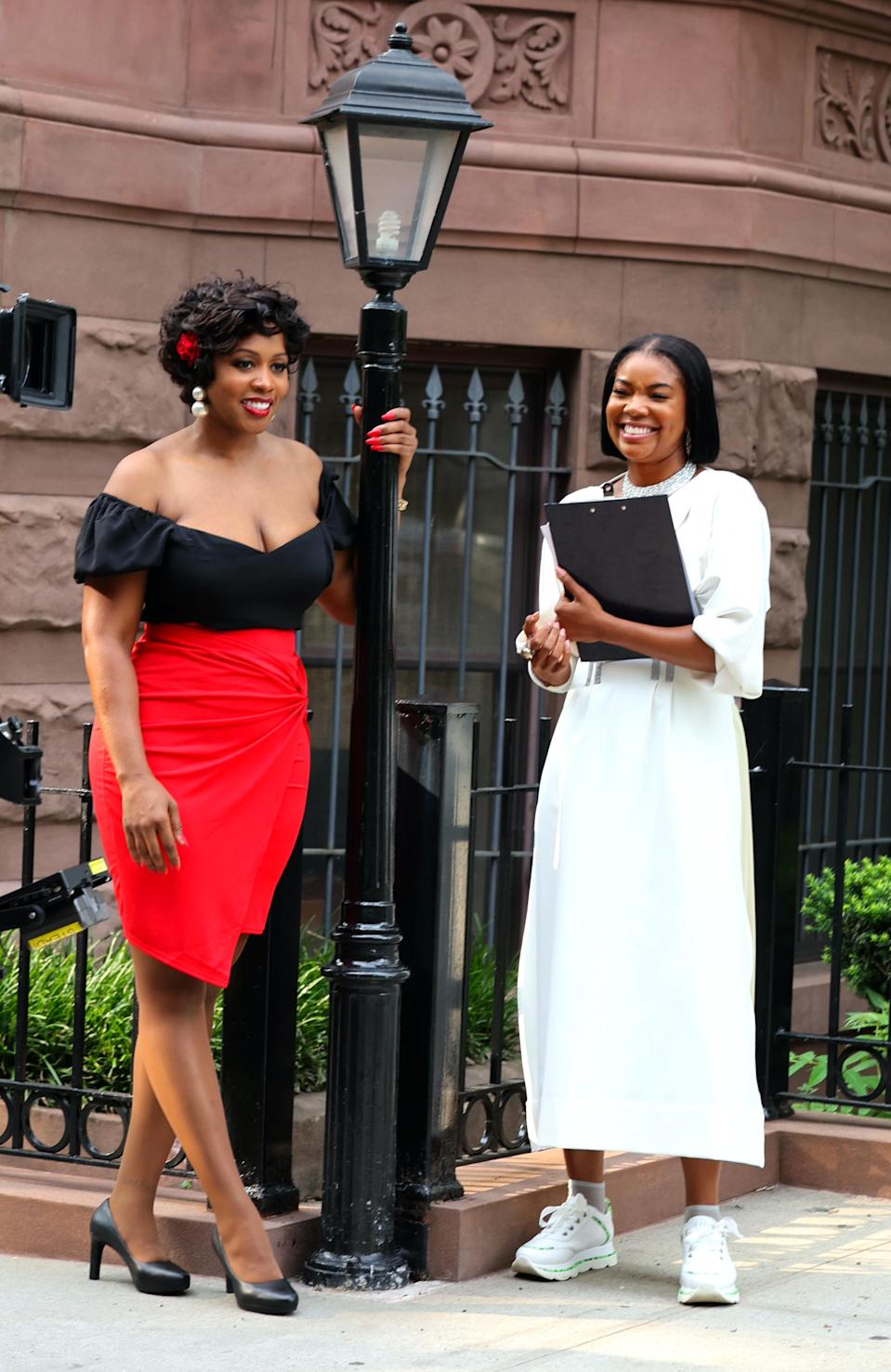 """Gabrielle Union and Remy Ma film """"The Perfect Find"""" in downtown Manhattan. - Credit: Jose Perez / SplashNews.com"""