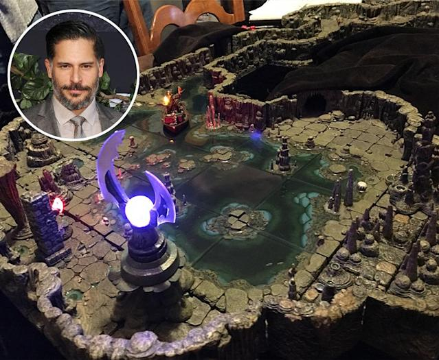 "<p><span>The actor reminded the world of his D&D obsession when he shared</span><a href=""https://www.instagram.com/p/BgIYZ69DtUQ/?hl=en&taken-by=joemanganiello"" rel=""nofollow noopener"" target=""_blank"" data-ylk=""slk:photos of himself"" class=""link rapid-noclick-resp""> <span>photos of himself</span></a><span> playing his favorite game at a convention held to honor game enthusiasts. And he didn't attend in the way some celebs go to Comic-Con, like to speak on a panel or something. No, Manganiello just wanted to sit and play in the home where Gary Gygax created the game. Manganiello noted that it had been on his bucket list to do so, which is not surprising if you consider that the actor has actuall </span><a href=""http://www.mtv.com/news/3000580/joe-manganiello-dungeons-dragons-movie/"" rel=""nofollow noopener"" target=""_blank"" data-ylk=""slk:co-written a script"" class=""link rapid-noclick-resp""><span>co-written a script</span></a><span> for a film version of the game, because he adores it so much. </span>(Photo: Instagram/joemanganiello) </p>"